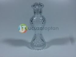 120 ml Dekoratif İnce Belli İksir Kolonya Şişesi (Boy 15 cm) - Thumbnail