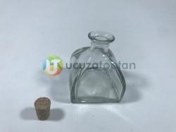 200 ml Kübik Difüzör Model Mantarlı Şişe (1 Koli 40 Adet) - Thumbnail