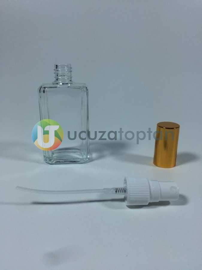 50 ml Boş Parfüm Şişesi Kesik Köşe Modeli- 1 Koli