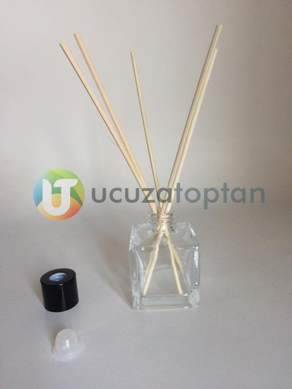 50 ml Kare Küp Bambu Koku Şişesi