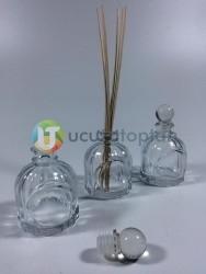 Cam Topuz Kapaklı Pembe İpli 100 cc Bambu Şişe - 1 Koli (70 Adet) - Thumbnail