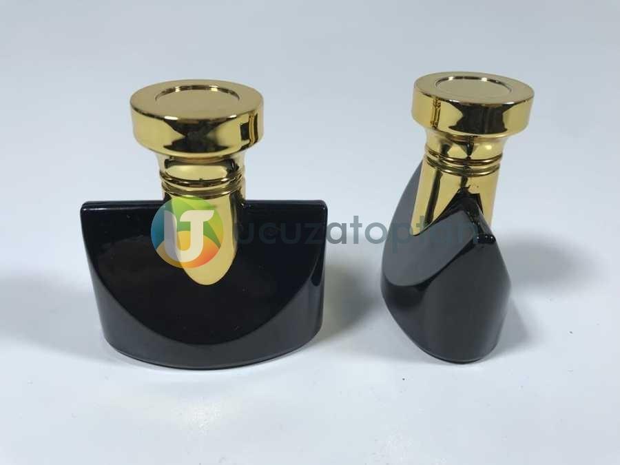 Altın Sarı Kapaklı Siyah Renk 30 ml Tester Cam Şişe - 1 Koli (192 Adet)