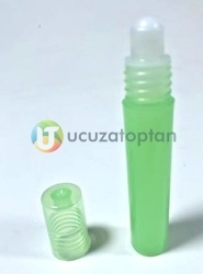 Yeşil Renk Plastik Rollon Şişe - Thumbnail