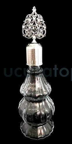 Çift Boğumlu 200 ml Dekoratif İksir Kolonya Şişesi - 1 Koli (24 Adet)