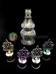 Çift Boğumlu 200 ml Dekoratif İksir Kolonya Şişesi - 1 Koli (24 Adet) - Thumbnail