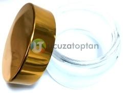 Gold Renk Kapaklı Cam Kavanoz 50 cc Krem Şişesi - Thumbnail