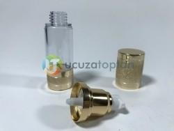 Gold Renk Valfsiz Asansörlü 30 cc PVC Krem Likit Şişesi (1 Koli-300 Adet) - Thumbnail