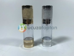 Gümüş Renk Valfsiz Asansörlü 30 cc PVC Krem Likit Şişesi (1 Koli-300 Adet) - Thumbnail