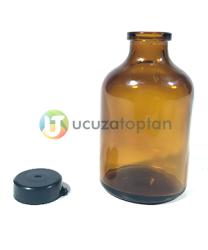 Kahverengi Akrilik 50 cc Çok Amaçlı Boş Penisilin Şişesi (1 Koli 500 Adet) - Thumbnail