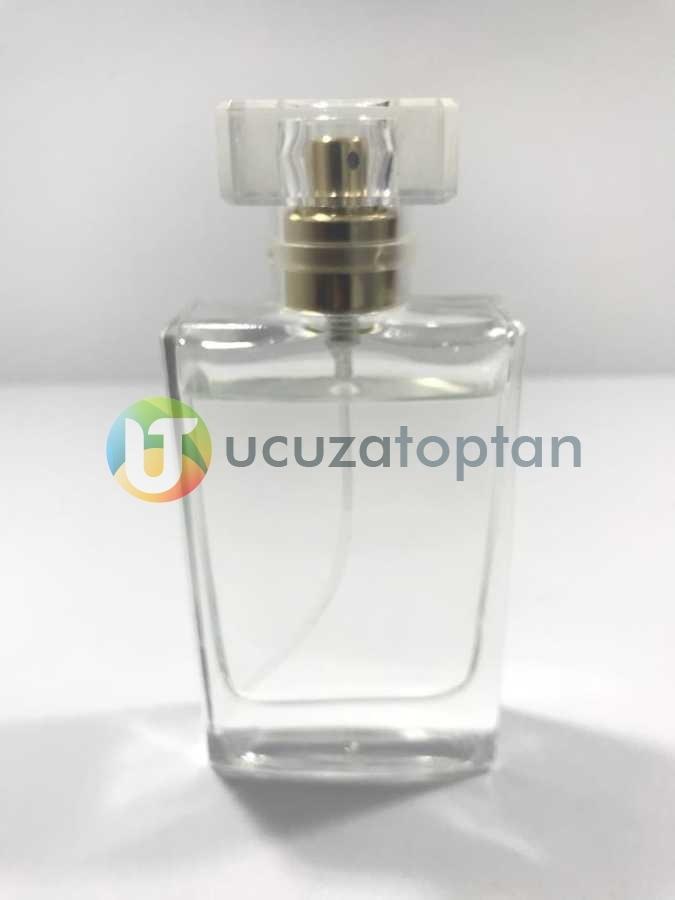 Karayzen Kapak 50 cc Boş Cam Parfüm Şişesi - (1 Koli 100 Adet)