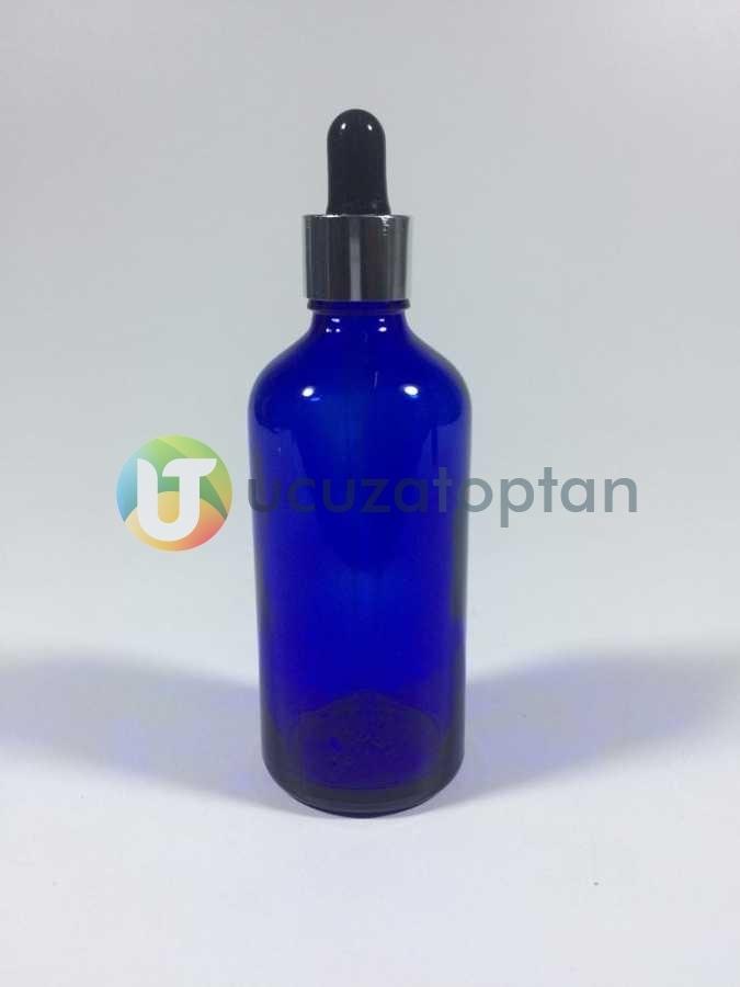 Mavi Renk 100 cc Damlalıklı İlaç Şişesi - 1 Koli (70 Adet)