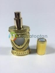 Plastik Kaplama Desenli 50 cc Boş Cam Parfüm Şişesi (1 Koli 96 Adet) - Thumbnail