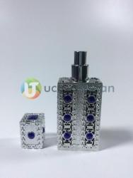 Plastik Kaplama Desenli Boş Cam Parfüm Şişesi (50 ml) - Thumbnail