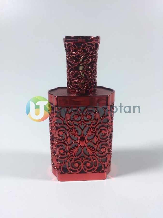 Plastik Kaplama Desenli Boş Cam Parfüm Şişesi (50 ml)