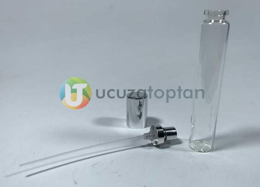 Şeffaf Cam Tüp Model 35 cc Boş Kalem Parfüm Şişesi