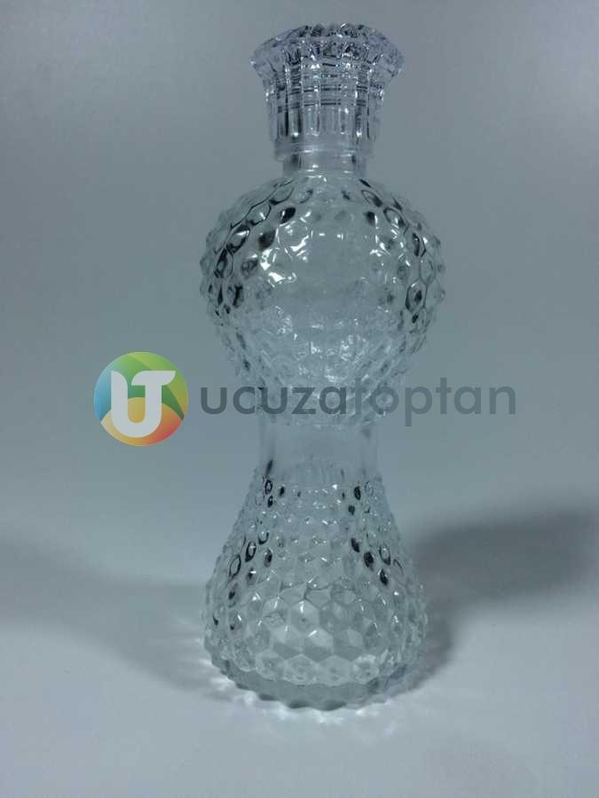 200 ml Dekoratif İnce Belli İksir Kolonya Şişesi (Boy 18 cm)