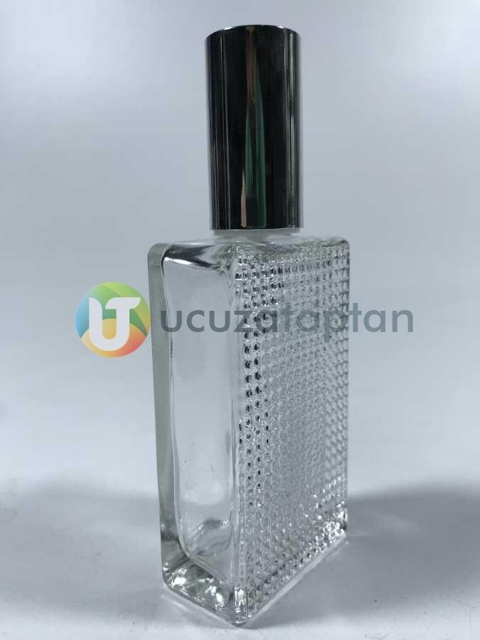 50ml Tırtıklı Boş Parfüm Şişesi Koli (132 adet)