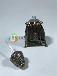 Piramit Model 30cc Metal Kaplamalı Şık Dekoratif Esans Şişesi - Thumbnail