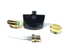 Altın Sarı Kapaklı Siyah Renk 30 ml Tester Cam Şişe - 1 Koli (192 Adet) - Thumbnail
