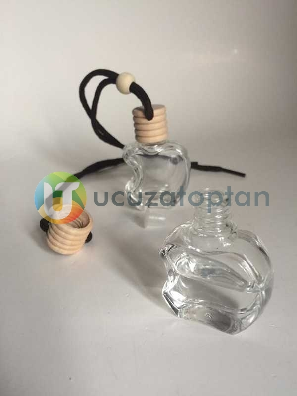 Bambu Kapaklı Apple Elma Şeklinde Boş Oto Kokusu Şişesi 10 ml (1 Koli - 324 Adet)