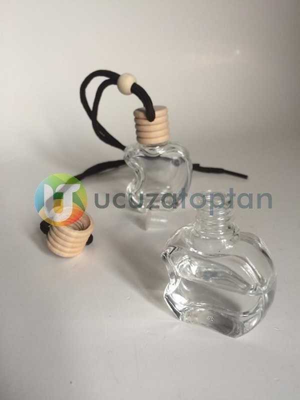 Bambu Kapaklı Apple Elma Şeklinde Boş Oto Kokusu Şişesi 10 ml (1 Koli - 378 Adet)