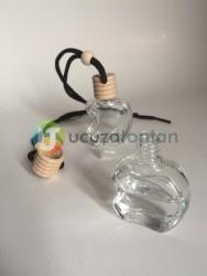 Bambu Kapaklı Apple Elma Şeklinde Boş Oto Kokusu Şişesi 10 ml (1 Koli - 378 Adet) - Thumbnail