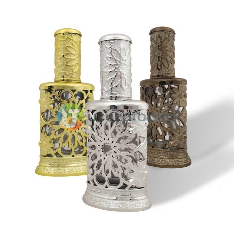 Cam Üzeri Renkli Plastik Korumalı 50 ml Boş Parfüm Şişesi 1 Koli 96 Adet