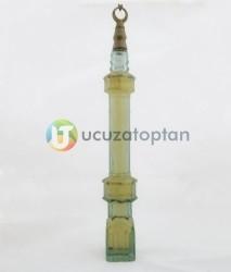 Cami Minaresi Tasarımlı Renkli Dekoratif Kolonya Şişesi 1 Koli 36 Adet - Thumbnail