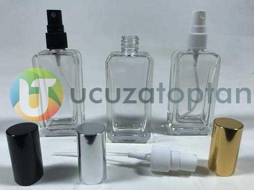 Çevirme Valfli 50 ml Iphone Boş Cam Parfüm Şişesi - (1 Koli 120 Adet)