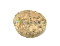 Mantar Tıpa Kapak (Alt:4cm - Üst:4,3cm - Yükseklik: 1,2cm) - Thumbnail