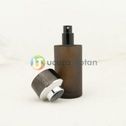 Kahverengi Kavuk Kapaklı 50 cc Silindir Cam Parfüm Şişesi 1 Koli 120 Adet - Thumbnail