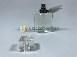 Fiyonklu ve Sürlin Kapaklı 25 ml Tester Cam Şişe - 1 Koli (189 Adet) - Thumbnail
