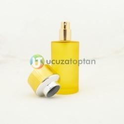 Sarı Renk Kavuk Kapaklı 50 cc Silindir Cam Parfüm Şişesi 1 Koli 120 Adet - Thumbnail