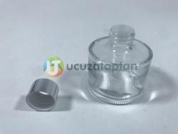 Gümüş Renk Kapaklı 100 ml Silindir Bambu Koku Şişesi - 1 Koli (56 Adet) - Thumbnail