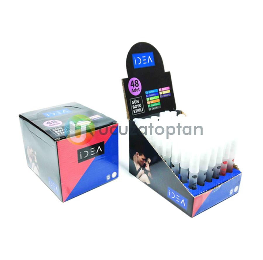 İdea Marka Bay / Bayan Karışık Kalem Parfüm Kutu Set (48'li Paket)