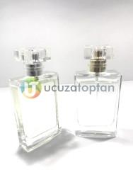 Karayzen Kapak 50 cc Boş Cam Parfüm Şişesi - (1 Koli 100 Adet) - Thumbnail