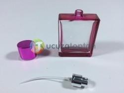 Kare Model Boyalı İki Renk Çeşitli 50 ml Boş Parfüm Şişesi - 1 Koli (140 Adet) - Thumbnail