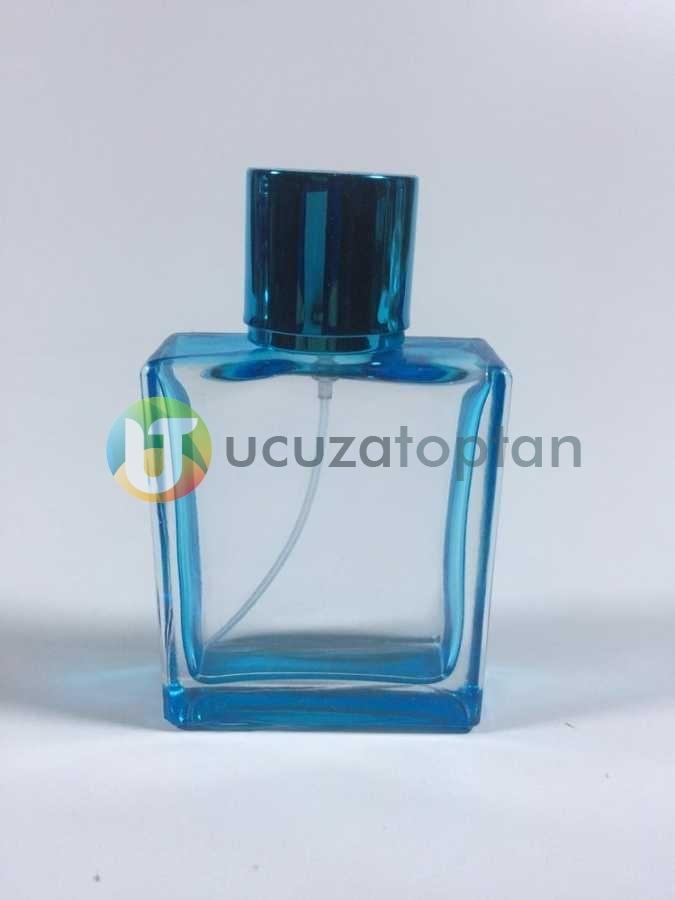 Kare Model Boyalı İki Renk Çeşitli 50 ml Boş Parfüm Şişesi - 1 Koli (140 Adet)