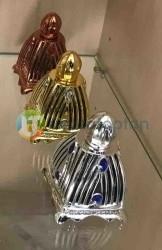 Dekoratif Cam Üzeri Plastik Korumalı 30 ml Boş Parfüm Şişesi 1 Koli 96 Adet - Thumbnail