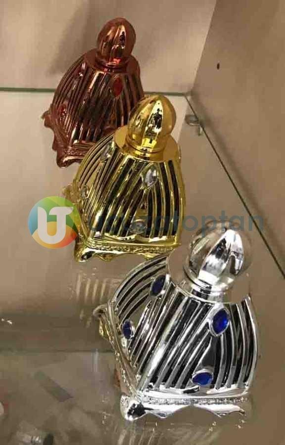 Dekoratif Cam Üzeri Plastik Korumalı 30 ml Boş Parfüm Şişesi 1 Koli 96 Adet