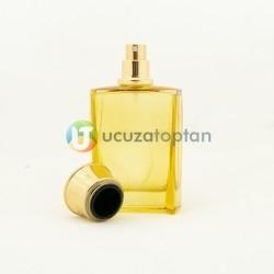 Sarı Renk Vezir Kavuğu Kapaklı 50 cc Cam Parfüm Şişesi 1 Koli 120 Adet - Thumbnail