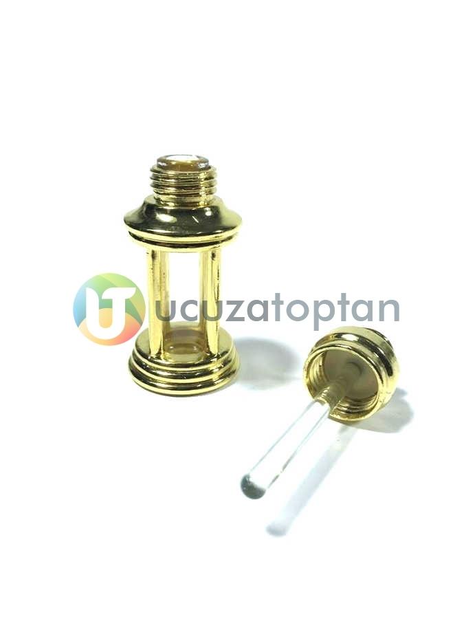 Kum Saati Model Metal Kaplamalı 3 ml Sürme ve Esans Şişesi