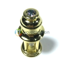 Kum Saati Model Metal Kaplamalı 3 ml Sürme ve Esans Şişesi - Thumbnail