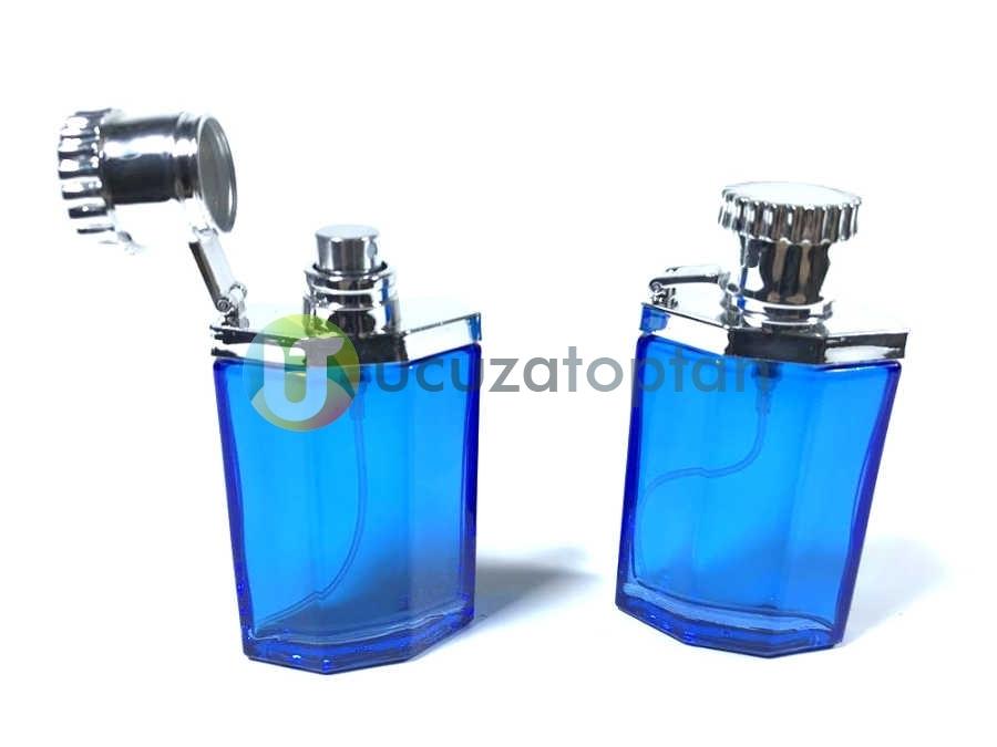 Mavi Renk 30 ml Tester Cam Şişe - 1 Koli (192 Adet)