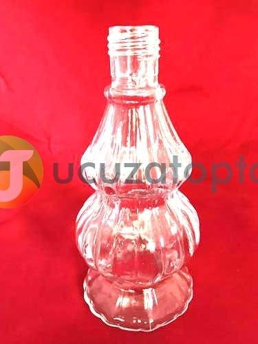 Metal Kapaklı Çift Boğumlu 200 ml Dekoratif İksir Kolonya Şişesi - 1 Koli (24 Adet)