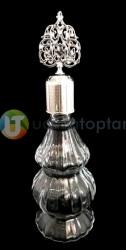 Metal Kapaklı Çift Boğumlu 200 ml Dekoratif İksir Kolonya Şişesi - 1 Koli (24 Adet) - Thumbnail