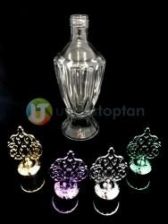 Metal Kapaklı Vazo model 200 ml Dekoratif İksir Kolonya Şişesi - 1 Koli (24 Adet) - Thumbnail