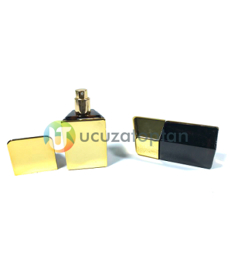 Mini Boy Altın Külçe Tasarımlı 20 ml Tester Cam Şişe - 1 Koli (180 Adet)