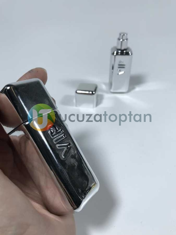 Mini Boy Gümüş Renk Bay VIP 30 ml Tester Cam Şişe - 1 Koli (192 Adet)