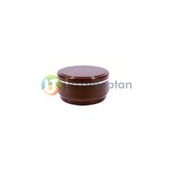 Plastik 100 ml Kahverengi Kerem Kavanoz - Thumbnail